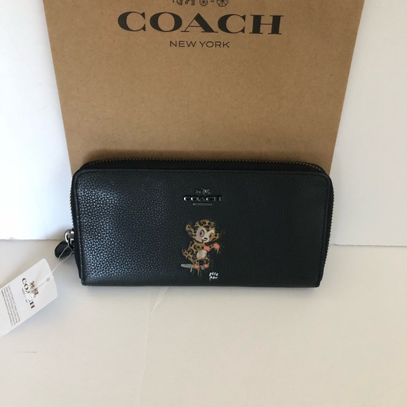 Coach Handbags - Authentic Coach Limited Edition Black Wallet NWT